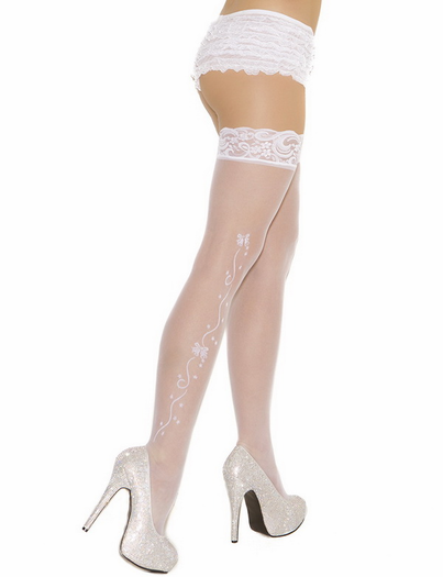 Wedding Bells Sheer Thigh Highs