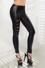 Wet Look Cut Out Leggings