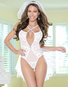 White Down The Aisle Bridal Teddy