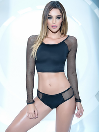 Wild For The Night  Fishnet Crop Top & Panty Set