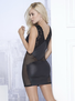 Wild Woman Black Net Mini Dress