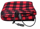 12-Volt Red Plaid Heated Electric Blanket for Car, Truck or RV with High/Low Temp control