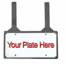 Trunk-style Rubber License Plate Holder With Straps