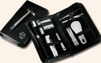 11-Piece Leather Travel Groomer with Initials or Monogram