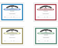 School Subject Certificate Awards