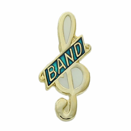 Music Clef - Band Pins - Click to enlarge