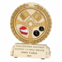 Racing Flags Cast Stone Series Trophy