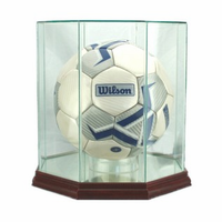 Soccer Ball Display Case (Glass, Octagon)
