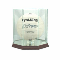 Volleyball Display Case (Glass, Octagon)