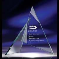 Zephyr Jade Glass Triangle Award (3 Sizes)