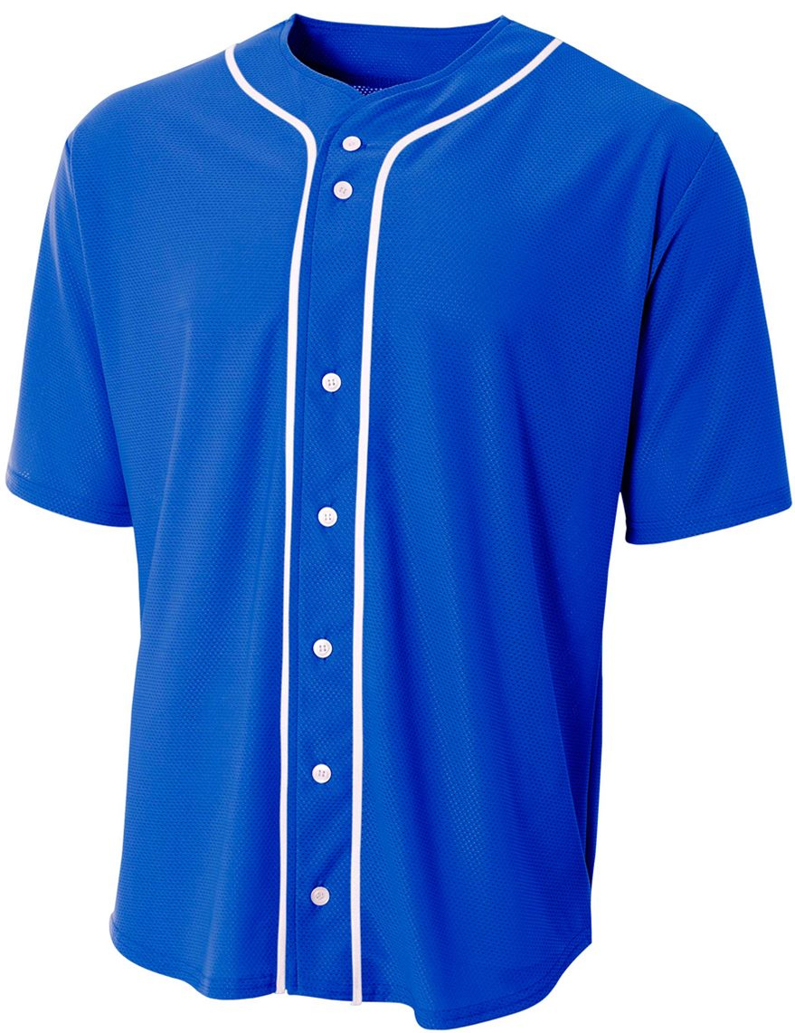 A4 short sleeve full button men 39 s custom baseball jersey Designer baseball shirts
