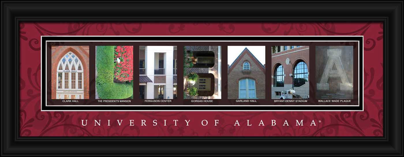 Alabama crimson tide campus letter art for Campus letter art
