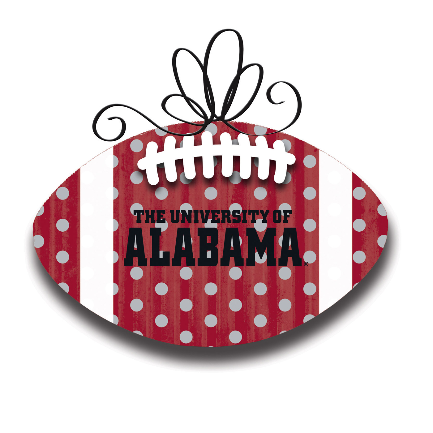 alabama crimson tide metal football door decor. Black Bedroom Furniture Sets. Home Design Ideas