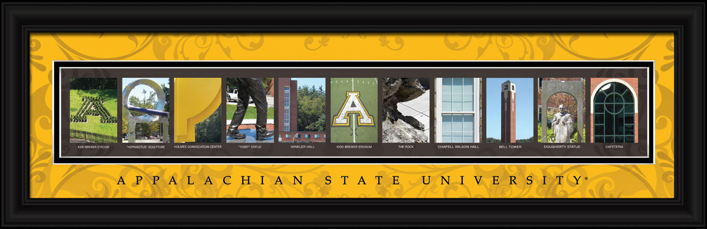 Appalachian state mountaineers campus letter art for Campus letter art