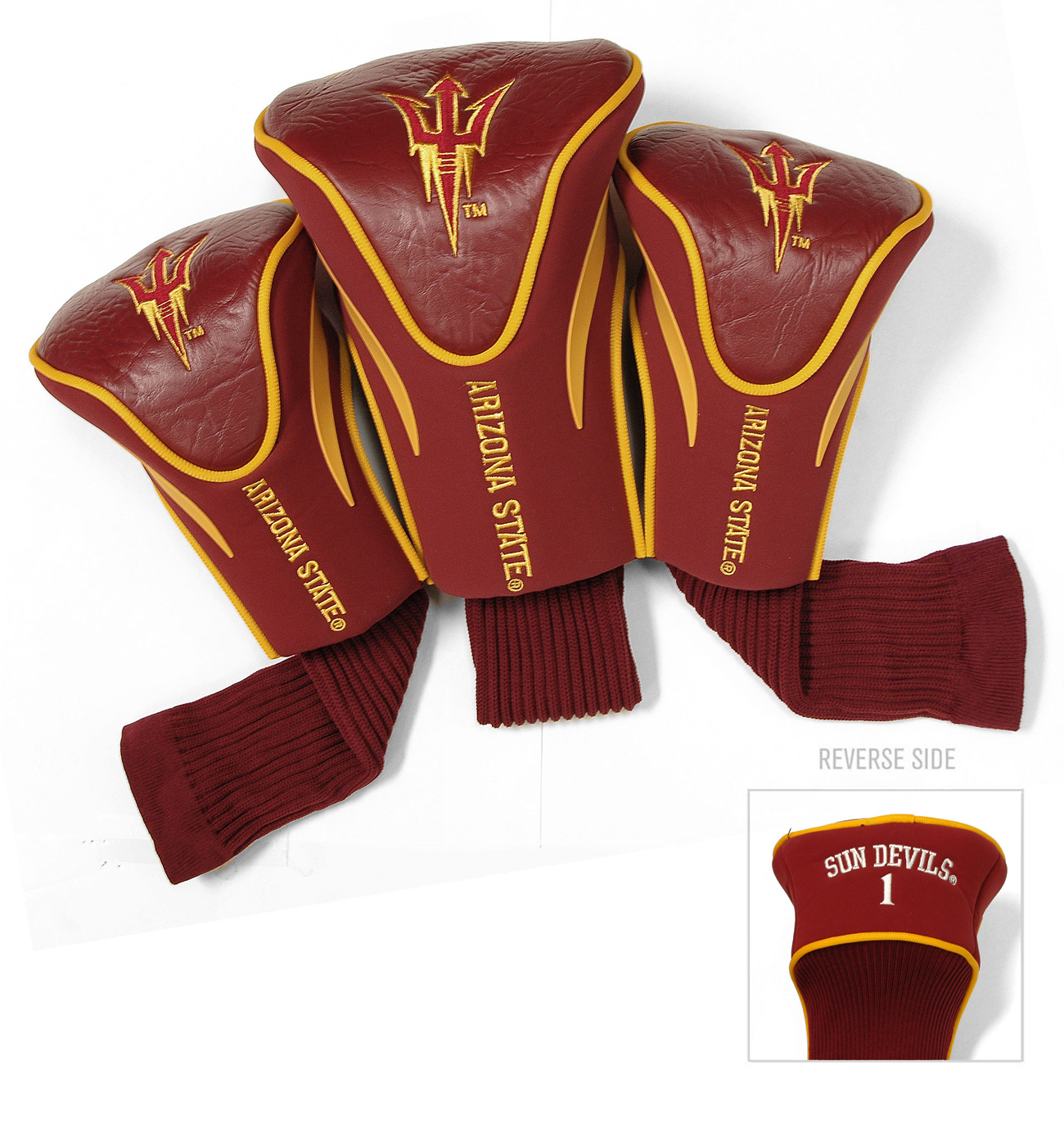 Arizona state sun devils golf headcovers Arizona state golf shirts