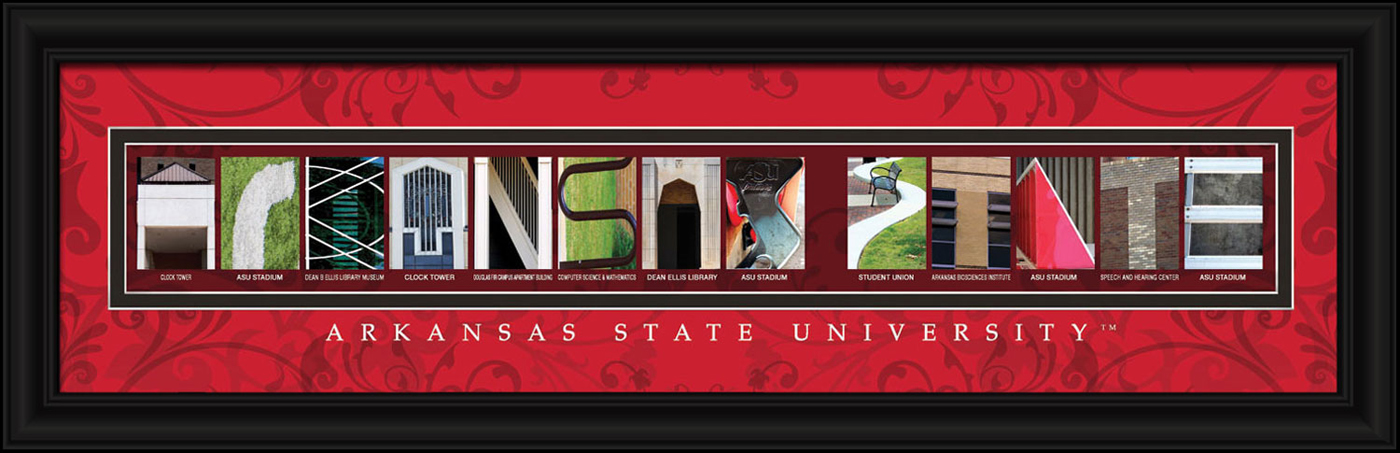 Arkansas state red wolves campus letter art for Campus letter art