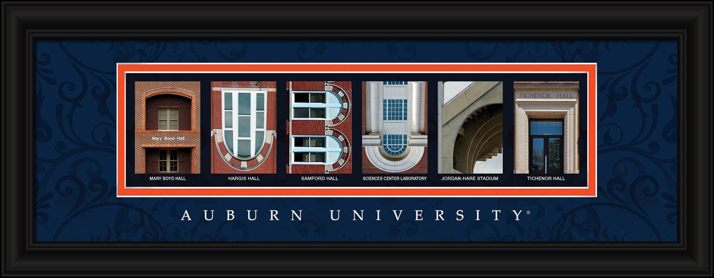 Auburn tigers campus letter art for Campus letter art