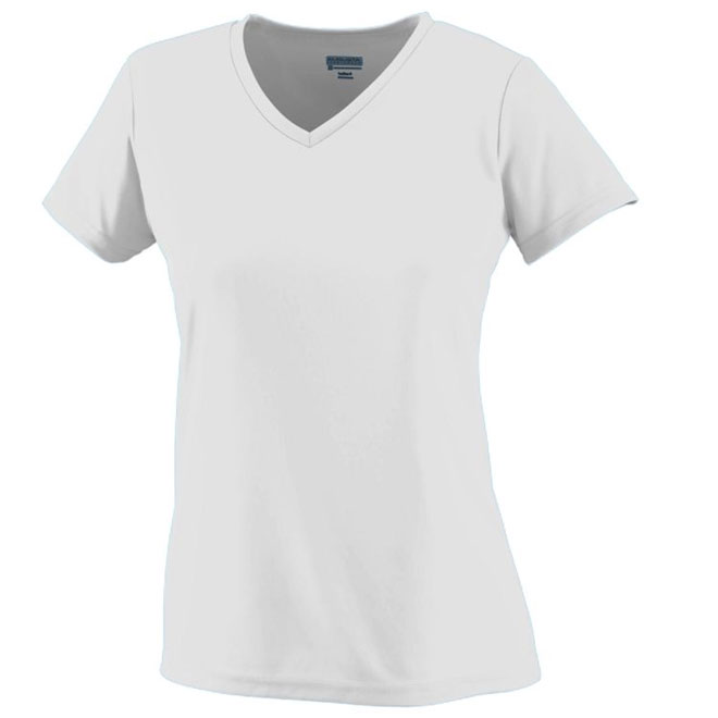 Augusta Ladies V Neck Wicking T Shirt
