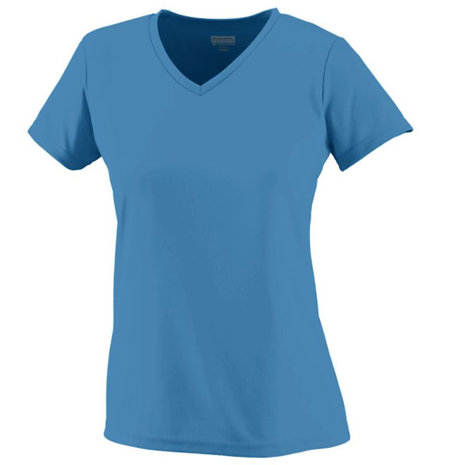 Augusta Ladies 39 Wicking V Neck T Shirt