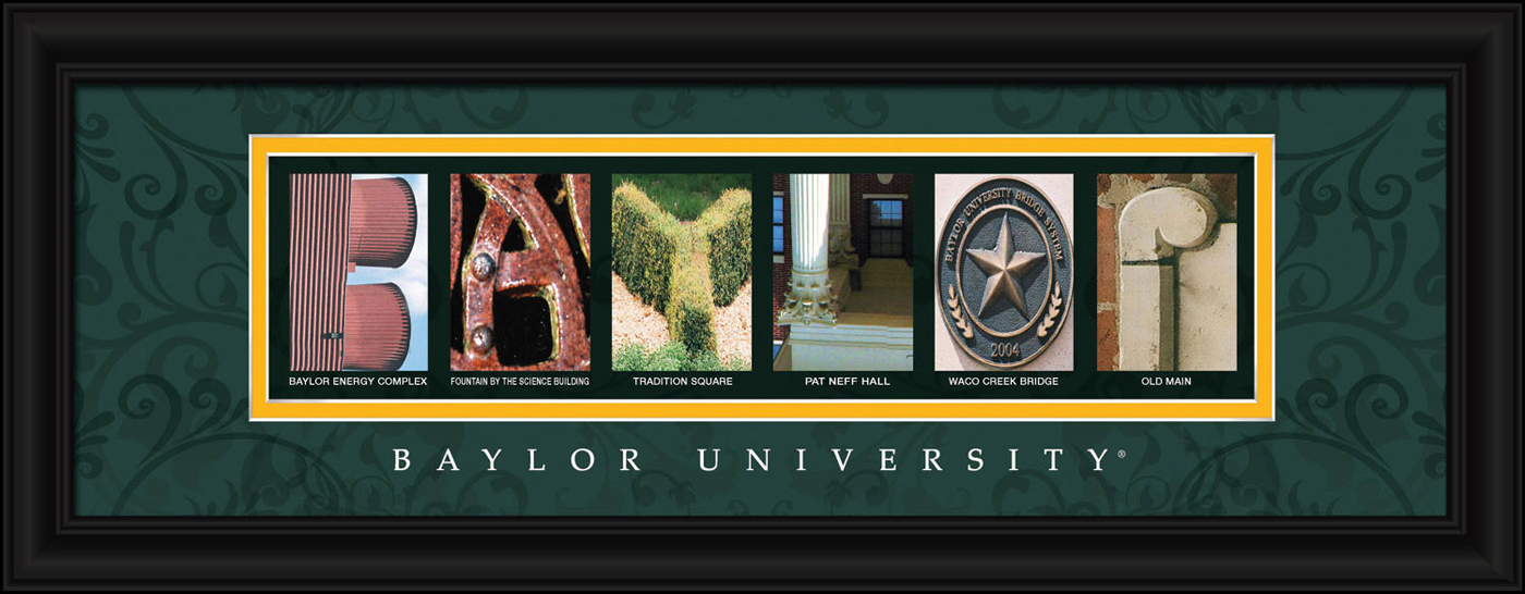 Baylor bears campus letter art for Campus letter art