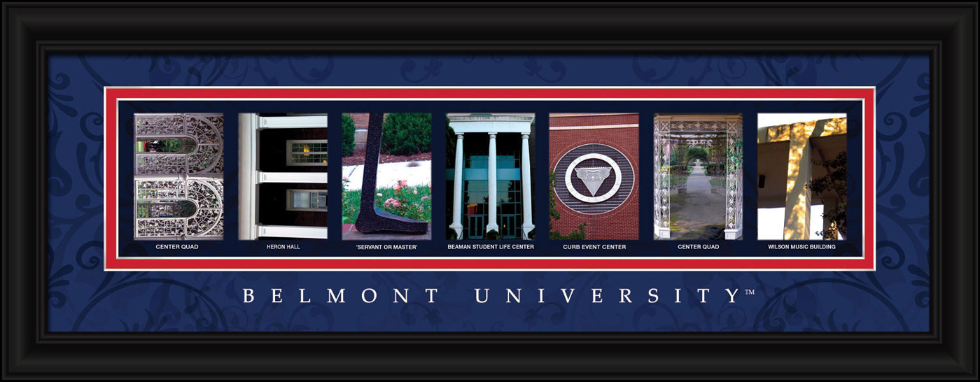 Campus Letter Art Belmont Bruins Campus Letter Art