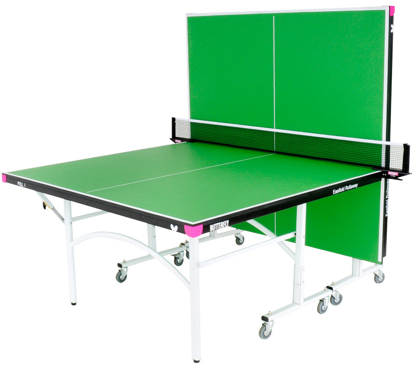 Butterfly easifold 19 rollaway ping pong table for Table ping pong