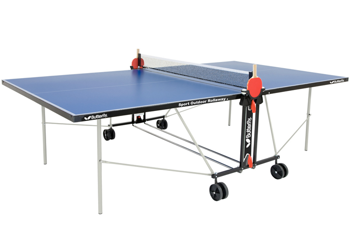 butterfly sport rollaway outdoor ping pong table. Black Bedroom Furniture Sets. Home Design Ideas