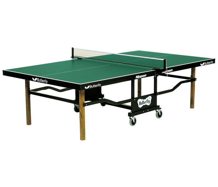 Butterfly t24 nippon rollaway ping pong table for Table ping pong