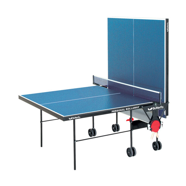 Butterfly tr21 personal rollaway ping pong table for Table ping pong