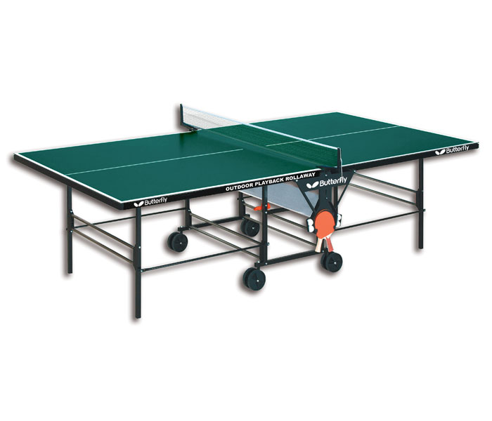 butterfly tw24 outdoor playback rollaway ping pong table. Black Bedroom Furniture Sets. Home Design Ideas