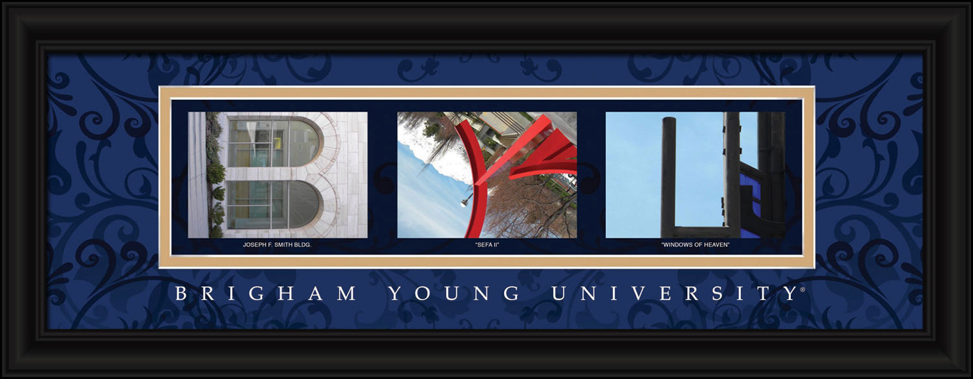 Byu cougars campus letter art for Campus letter art