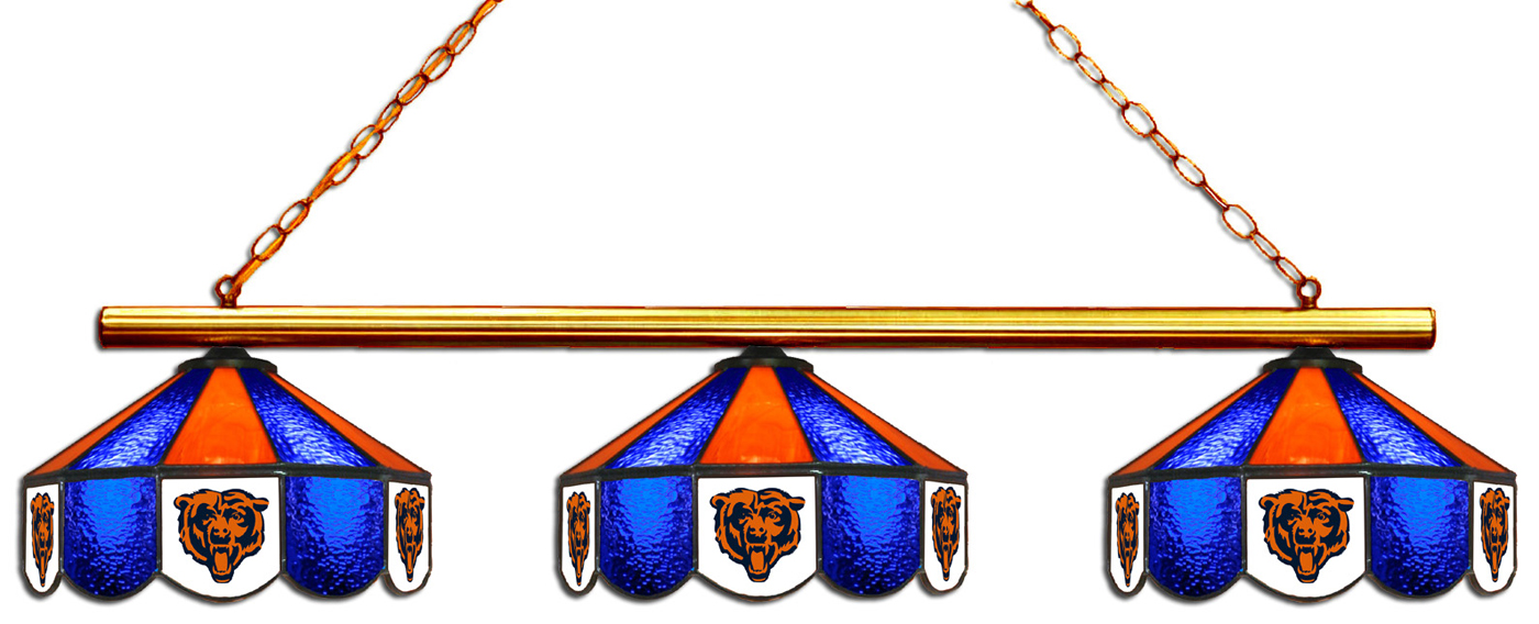 Bears Pool Table Lamp : Chicago bears shade pool table light