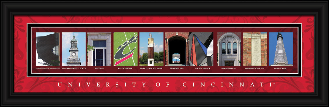 Cincinnati bearcats campus letter art for Campus letter art