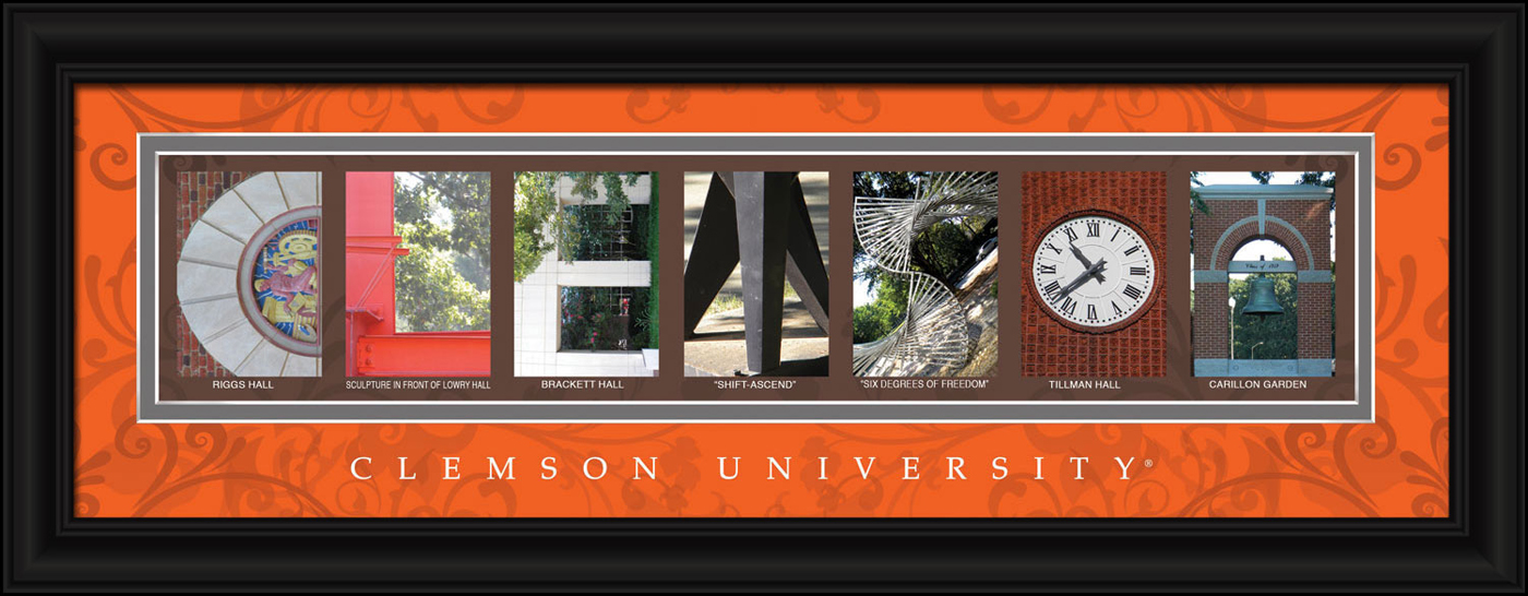Clemson tigers campus letter art for Campus letter art