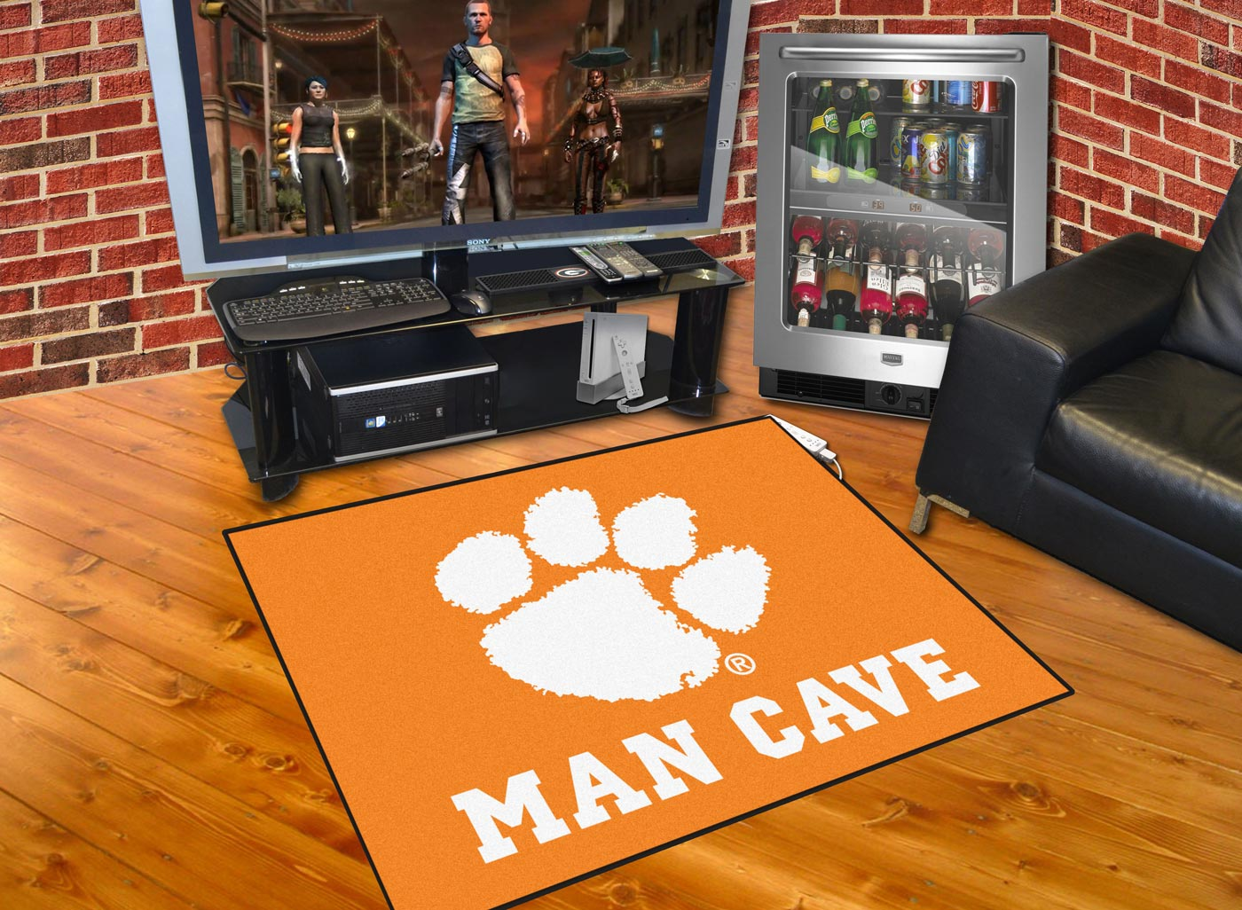 Man Cave Rugs : Clemson tigers man cave all star rug