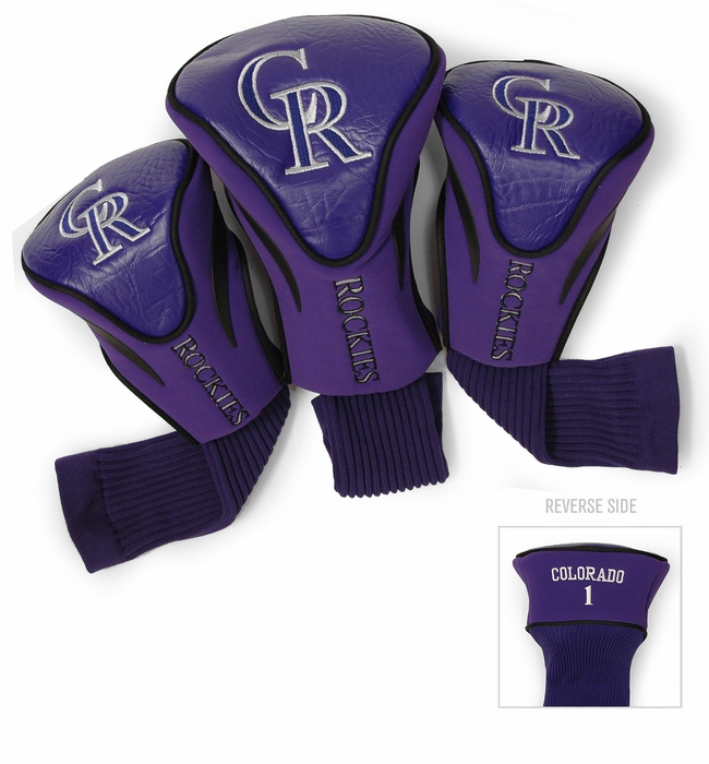 Colorado Rockies Golf Headcovers 3 Pack
