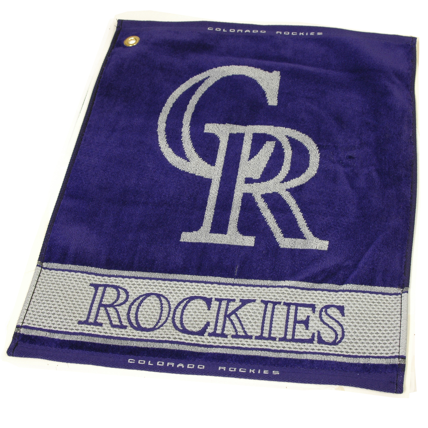 Colorado Rockies Woven Golf Towel