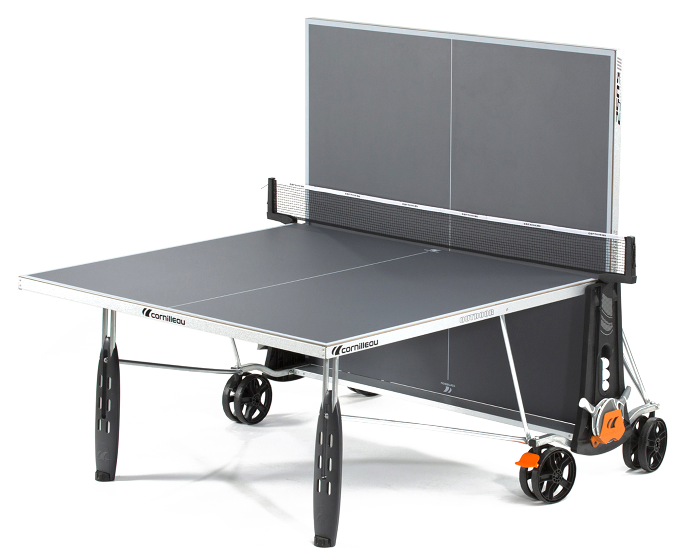 cornilleau 250s crossover indoor outdoor gray ping pong table. Black Bedroom Furniture Sets. Home Design Ideas