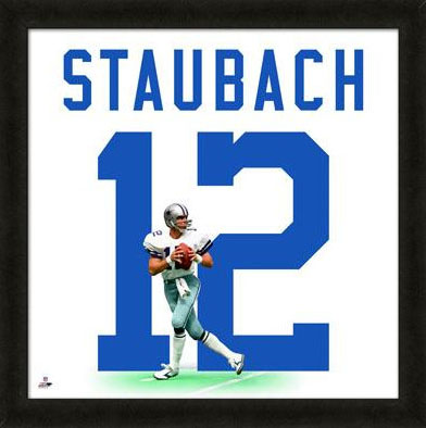 Dallas Cowboys Roger Staubach Uniframe Framed Jersey Photo