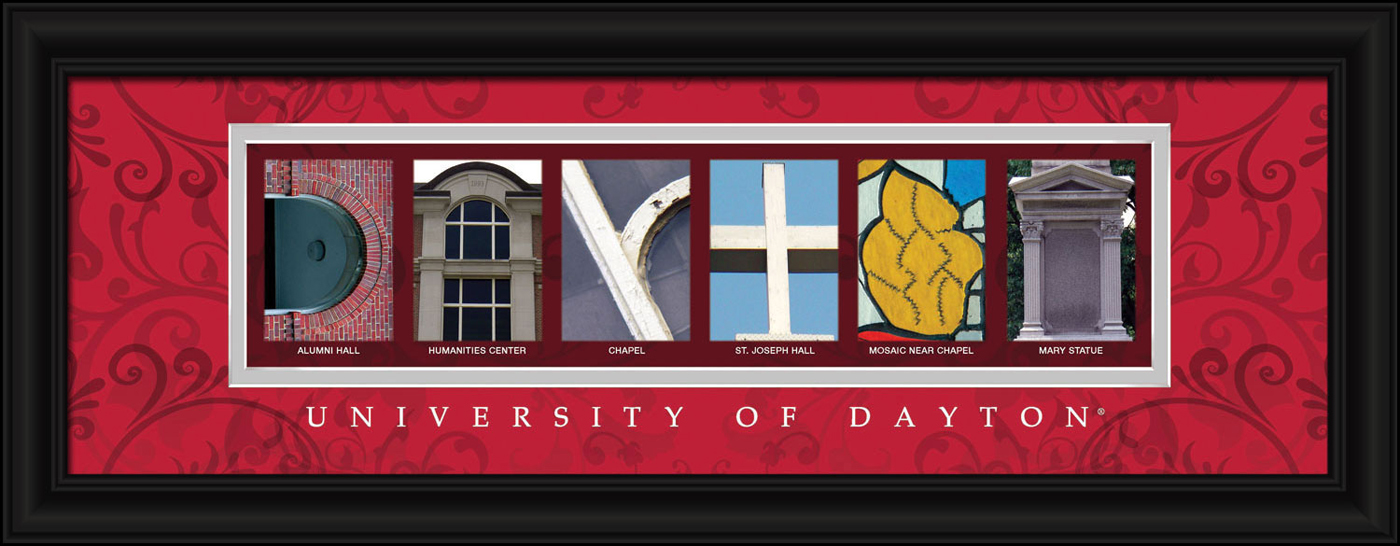 Dayton flyers campus letter art for Campus letter art