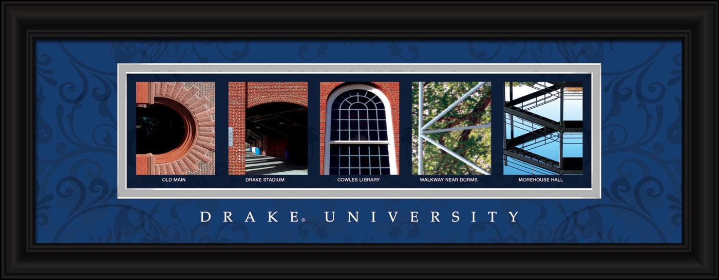 Drake bulldogs campus letter art for Campus letter art