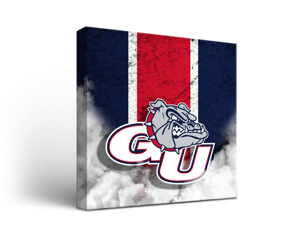 Gonzaga bulldogs vintage canvas wall art for Vintage basketball wall art
