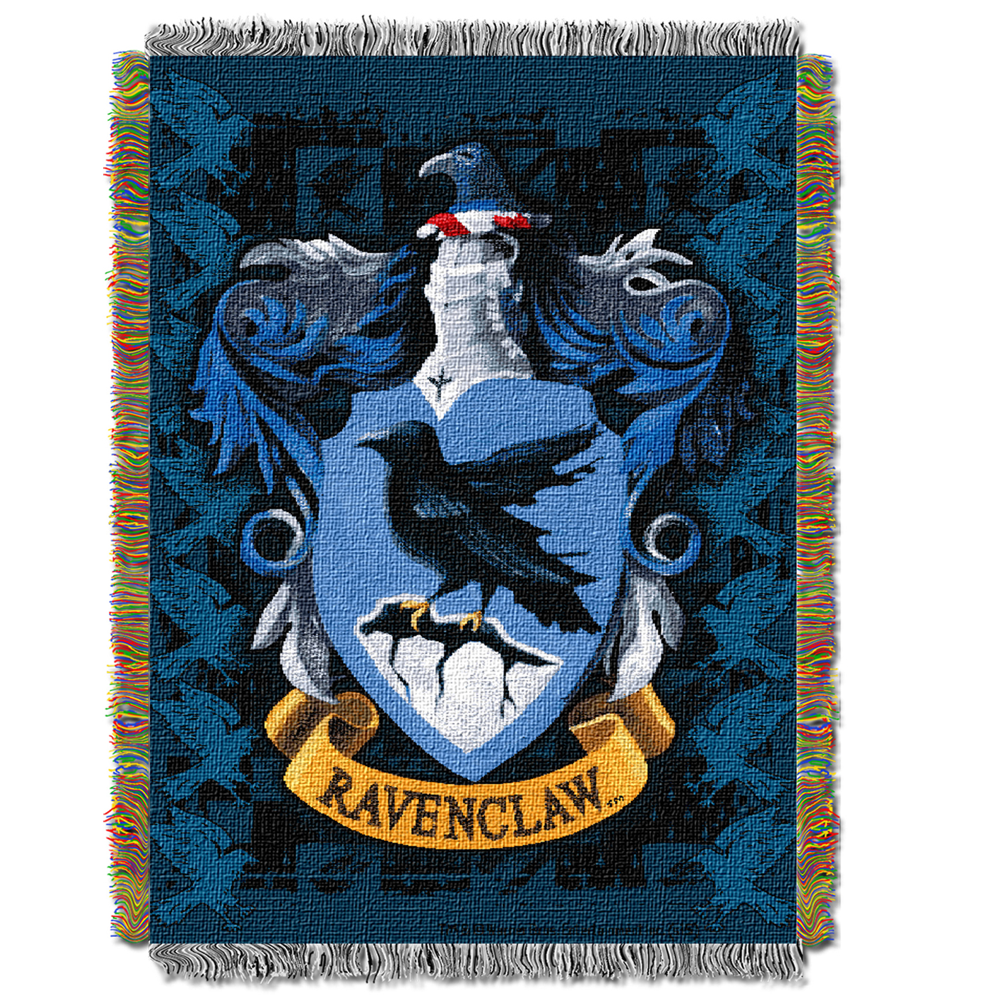 harry potter ravenclaw crest throw blanket. Black Bedroom Furniture Sets. Home Design Ideas