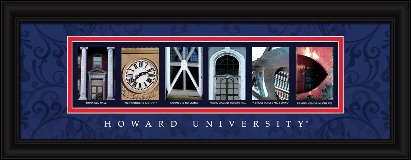 Howard bison campus letter art for Campus letter art