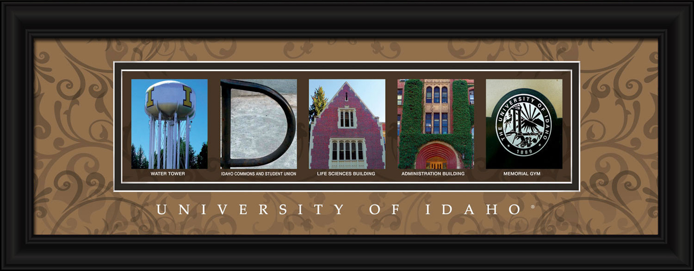 Idaho vandals campus letter art for Campus letter art