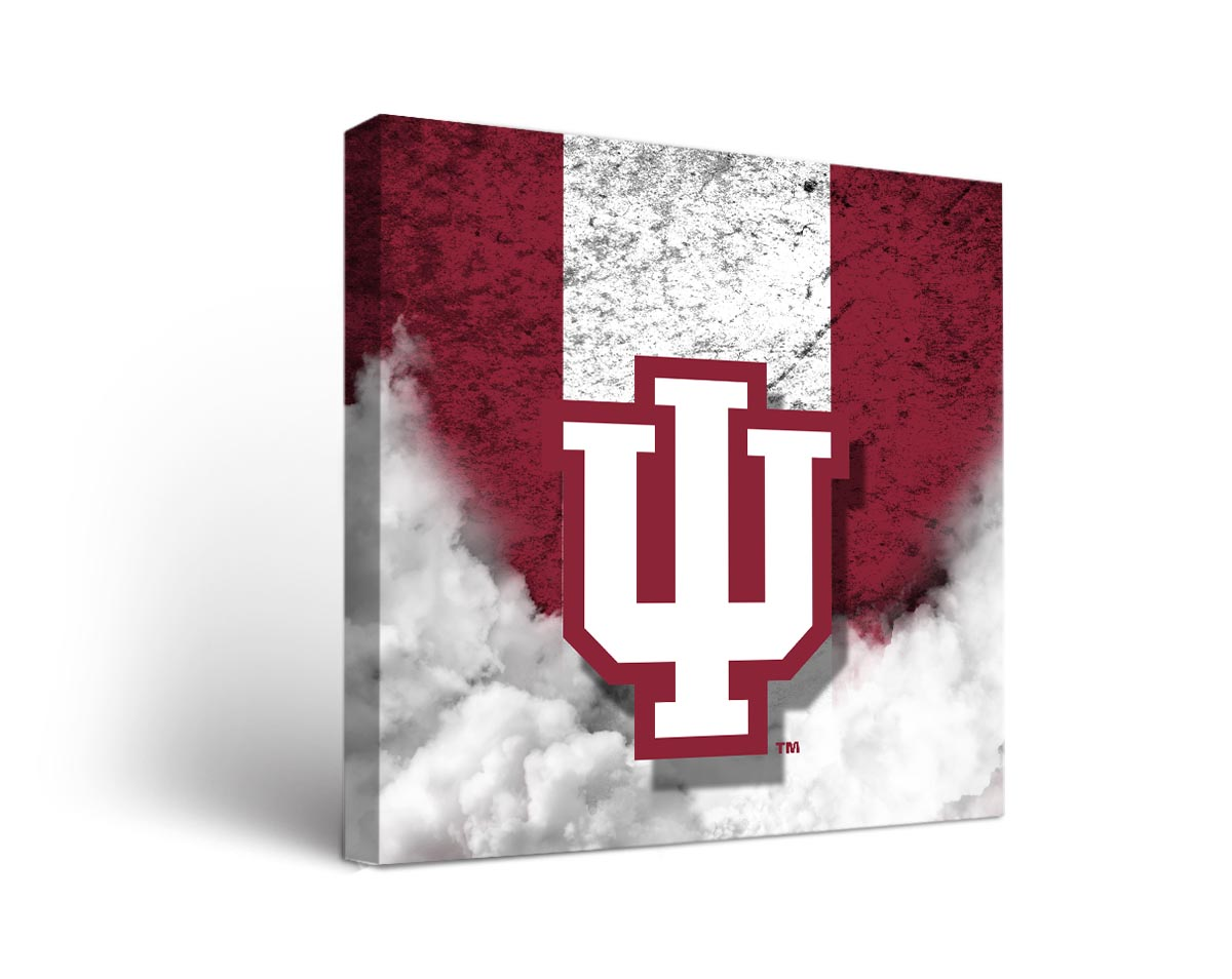 Indiana hoosiers vintage canvas wall art for Vintage basketball wall art