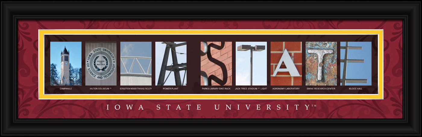 Iowa state cyclones campus letter art for Campus letter art