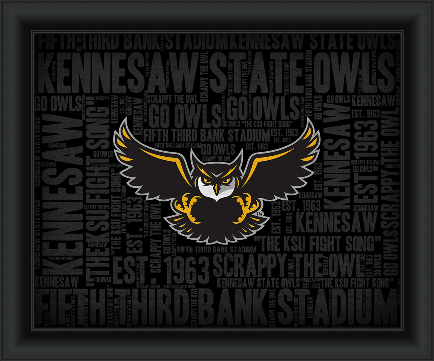 Kennesaw State Owls Gold Helmet Die-Cut Decal ** 4 Sizes |Kennesaw State