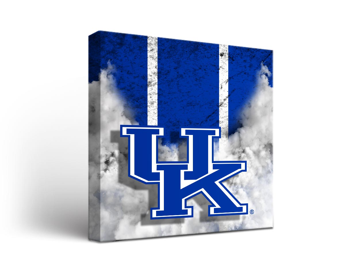 Kentucky wildcats vintage canvas wall art for Vintage basketball wall art