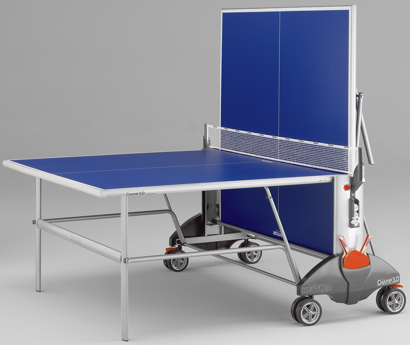Kettler champ 3 0 outdoor ping pong table for Table ping pong